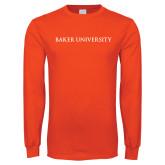 Orange Long Sleeve T Shirt-Baker University