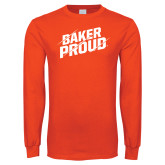 Orange Long Sleeve T Shirt-Baker Proud