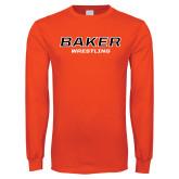 Orange Long Sleeve T Shirt-Wrestling
