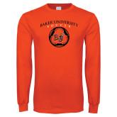Orange Long Sleeve T Shirt-Soccer Design