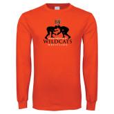 Orange Long Sleeve T Shirt-Wrestling Design