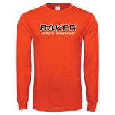 Orange Long Sleeve T Shirt-Mens Bowling