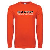 Orange Long Sleeve T Shirt-Womens Wrestling