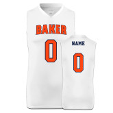"Replica White Adult Basketball Jersey-Personalized ""Women's"""