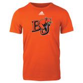 Adidas Orange Logo T Shirt-BU Wildcat