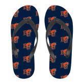 Full Color Flip Flops-BU Wildcat