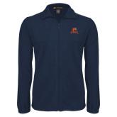 Fleece Full Zip Navy Jacket-Primary Mark