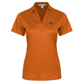 Ladies Orange Performance Fine Jacquard Polo-BU Wildcat