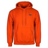 Orange Fleece Hoodie-BU Wildcat