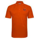 Orange Textured Saddle Shoulder Polo-BU Wildcat