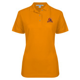 Ladies Easycare Orange Pique Polo-Primary Mark