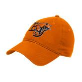 Orange Twill Unstructured Low Profile Hat-BU Wildcat