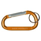 Orange Carabiner with Split Ring-Baker University  Engraved
