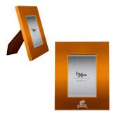 Orange Brushed Aluminum 3 x 5 Photo Frame-Primary Mark  Engraved