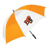62 Inch Orange/White Vented Umbrella-BU Wildcat