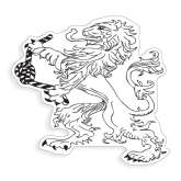 Large Decal-Lion, 12 inches tall