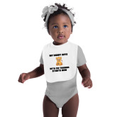 White Baby Bib-My Daddy Cub
