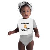 White Baby Bib-My Daddy Cub