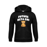 Youth Black Fleece Hoodie-Future Beta Chi Cub