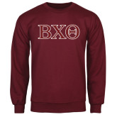 Maroon Fleece Crew-Greek Letters