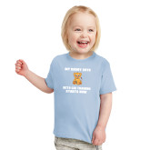 Toddler Light Blue T Shirt-My Daddy Cub