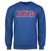 Royal Fleece Crew-Greek Letters