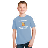 Youth Light Blue T Shirt-My Daddy Cub
