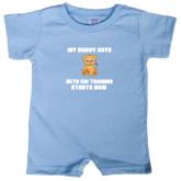 Light Blue Infant Romper-My Daddy Cub