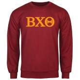 Cardinal Fleece Crew-Greek Letters