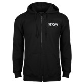 Black Fleece Full Zip Hoodie-Greek Letters