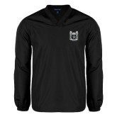 V Neck Black Raglan Windshirt-Coat of Arms