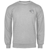Grey Fleece Crew-Lion