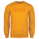 Gold Fleece Crew-Greek Letters, Tackle Twill