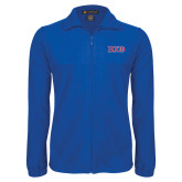 Fleece Full Zip Royal Jacket-Greek Letters