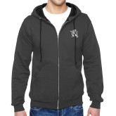 Charcoal Fleece Full Zip Hoodie-Lion