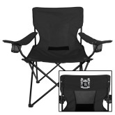 Deluxe Black Captains Chair-Coat of Arms