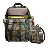 Heritage Supply Camo Computer Backpack-Beta Chi Arched