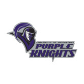 Extra Large Decal-Purple Knights Stacked w/ Knight Head, 18 inches wide