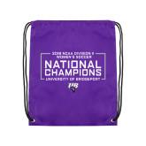 Purple Drawstring Backpack-2018 NCAA DII National Champions