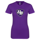 Next Level Ladies SoftStyle Junior Fitted Purple Tee-UB Shield