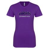 Next Level Ladies SoftStyle Junior Fitted Purple Tee-Gymnastics