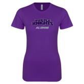 Next Level Ladies SoftStyle Junior Fitted Purple Tee-Alumni
