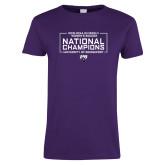 Ladies Purple T Shirt-2018 NCAA DII National Champions