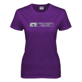 Ladies Purple T Shirt-Purple Knights Athletics