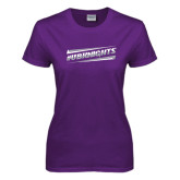 Ladies Purple T Shirt-UB Knights