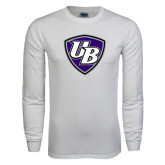 White Long Sleeve T Shirt-UB Shield