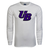White Long Sleeve T Shirt-Interlocking UB