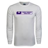 White Long Sleeve T Shirt-Purple Knights Athletics