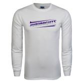 White Long Sleeve T Shirt-UB Knights