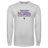 White Long Sleeve T Shirt-2018 NCAA DII National Champions